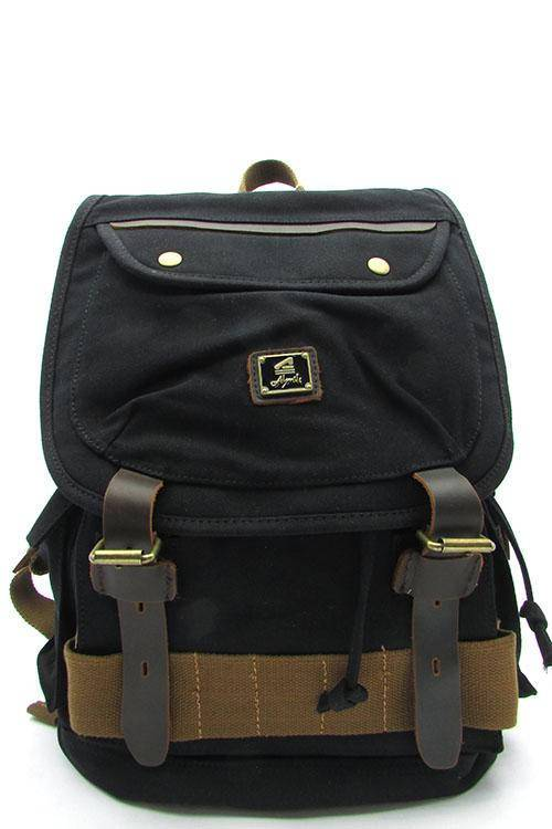 Quality Travel Canvas Backpack Military Rucksack Army Green Black Khaki - Travell Well