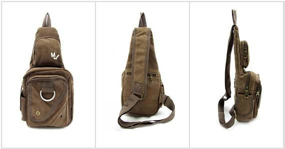 Canvas Chest Shoulder Sling Military Vintage Crossbody Cross Shoulder Slings Travell Well Bags - Travell Well
