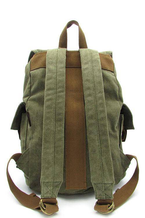Quality Travel Canvas Backpack Military Rucksack Black | Army Green | Khaki - Travell Well