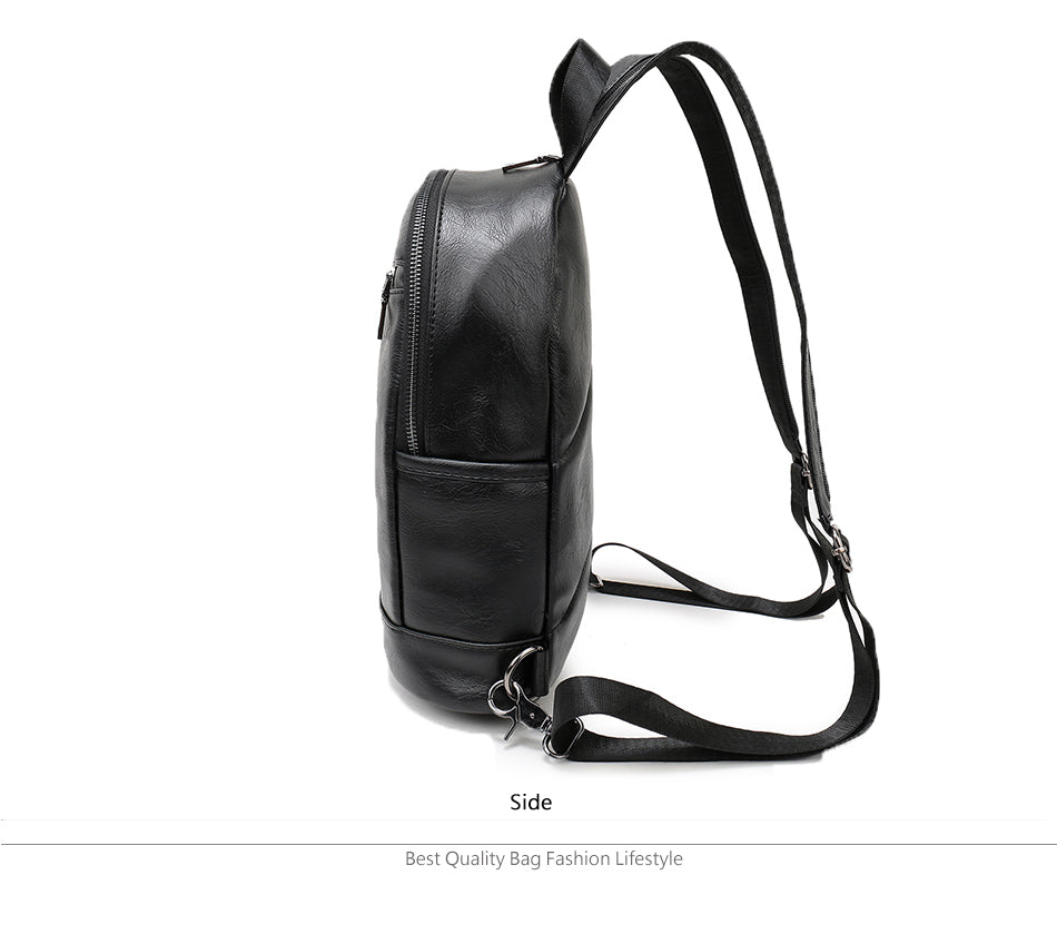 Best Multi-Use Leather Backpack Waterproof Sm Med Fashion Bag Chest Pack Men Women Crossbody Bags