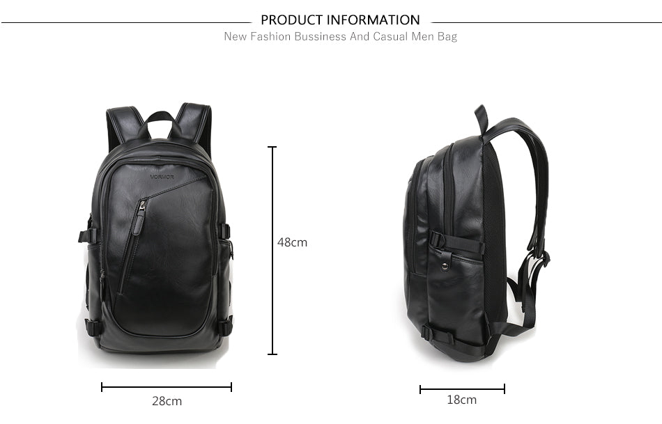Designer Backpack Waterproof 15 - 16 inch Laptop School Bag Quality Leather Backpacks Daypacks