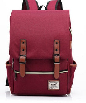 Canvas Backpack Vintage Style School Bags Large Mochilas Escolares Quality Pink Backpacks