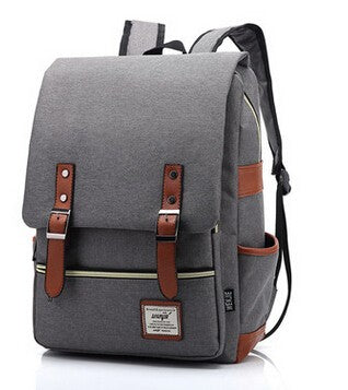 Canvas Backpack Vintage Style School Bags Large Mochilas Escolares Quality Black Backpacks