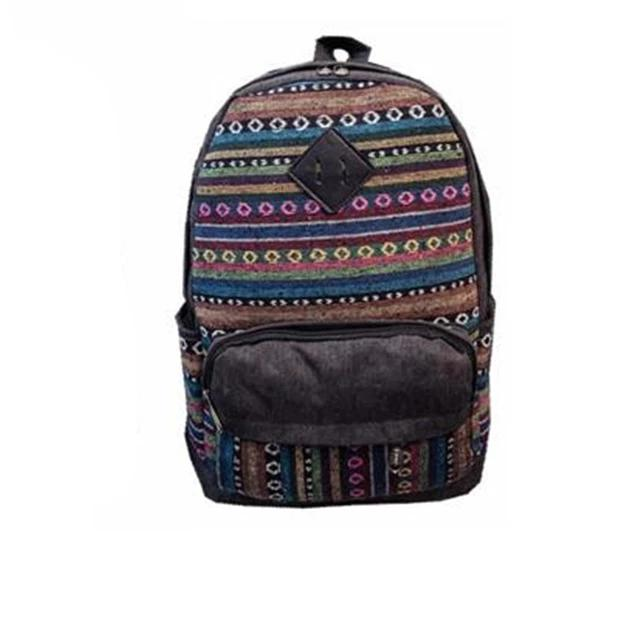 Vintage High Quality Canvas Cultural Backpacks