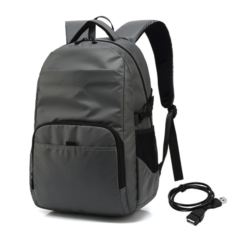 Anti Theft Backpack Waterproof 15 16 inch Laptop School Work Bag Black Gray Travel Backpacks