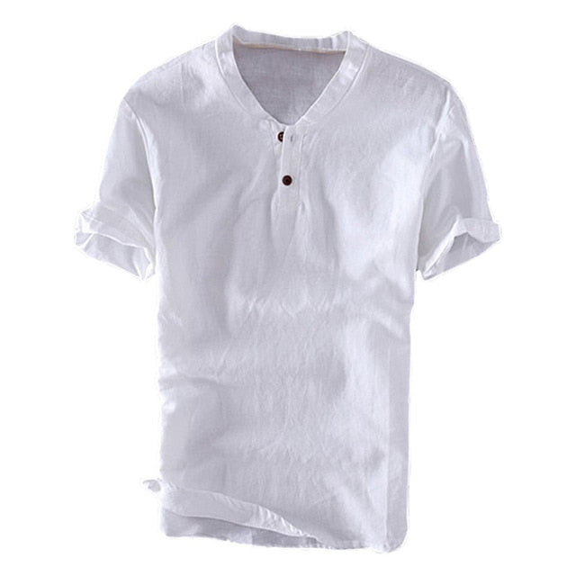 Men's Summer Shirts Basic Solid Color Slim Fit Button Shirt Lite Cotton Short Sleeve Men Tops M-3XL
