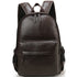 Great Basic Leather Backpack School Bag Waterproof Travel Bag Brown Black Leather Backpacks