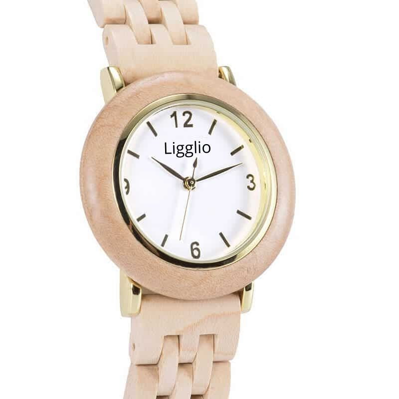 Kuria | Women's African Wooden Watch | Olive Wood | LGT025-3A