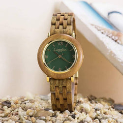 Senji | Women's Wooden Watch | Green Sandalwood | LGT025-1