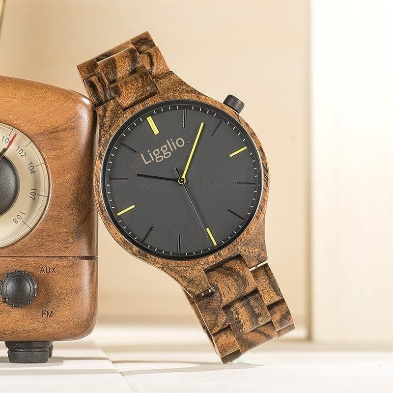 best original grain wooden watch with hypoallergenic wooden band