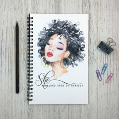 Illustration of black woman on journal cover.