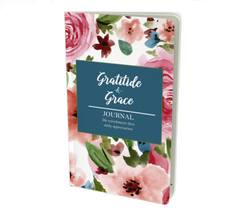 Floral cover journal that says gratitude and grace.