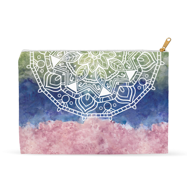 Earthy Mandala Accessory Pouch