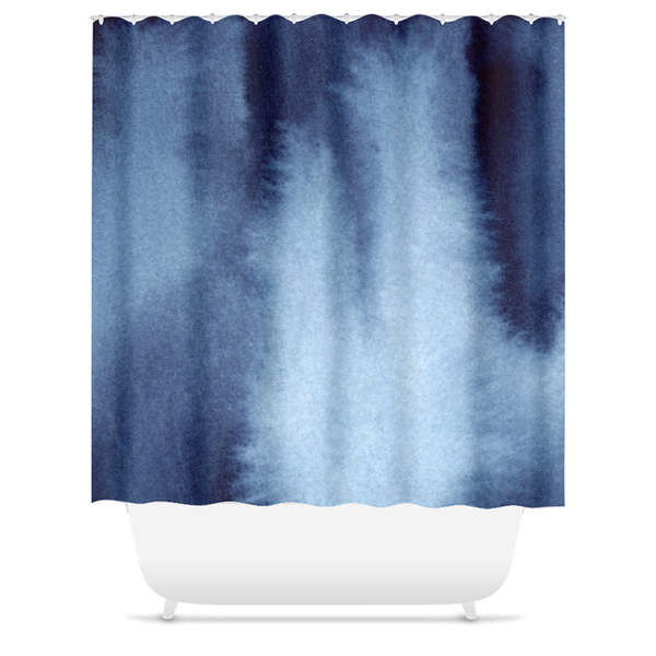 How Deep is Your Blue Shower Curtain