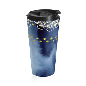 How Deep is Your Blue Mandala Stainless Steel Travel Mug