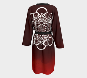 Autumn Red Mandala Robe