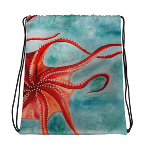Octopus Drawstring Bag
