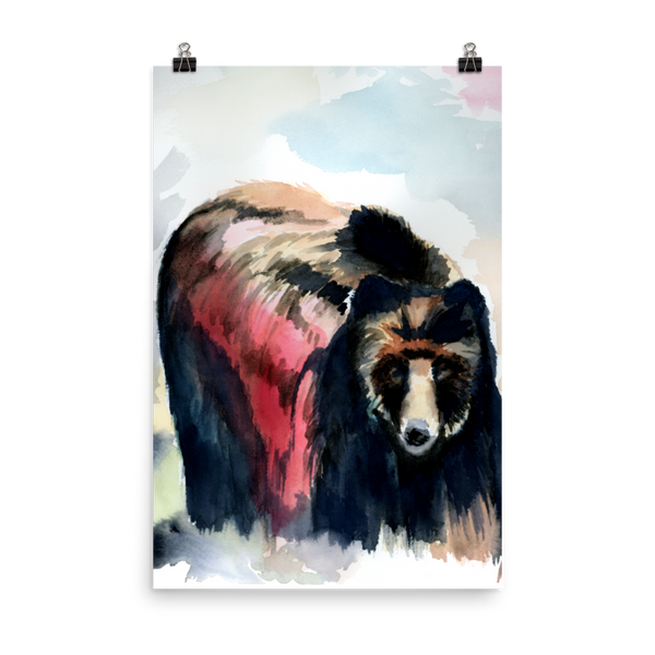 Watercolor Bear Print