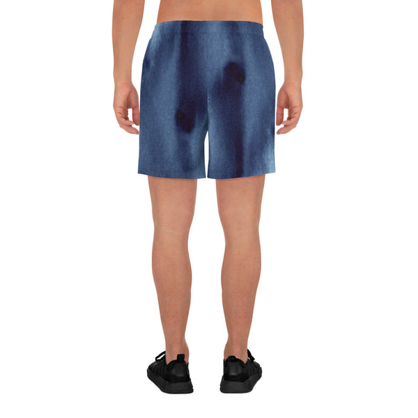 How Deep is Your Blue Men's Athletic Long Shorts