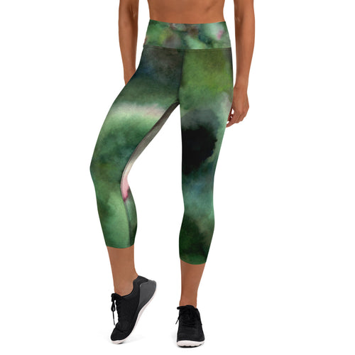 Forest Camo Capri Leggings