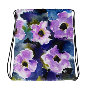 Mixie Watercolor Drawstring Bag
