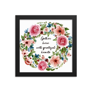 Gather Hear Framed Floral