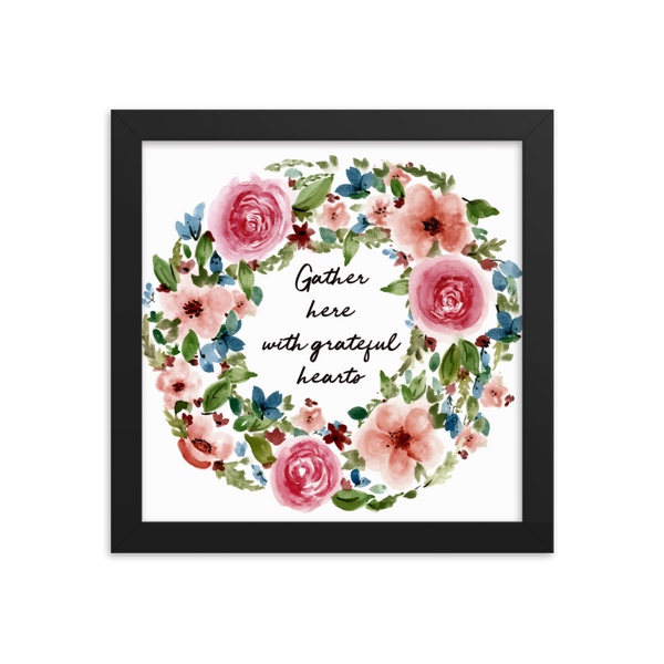 Gather Here Framed Floral