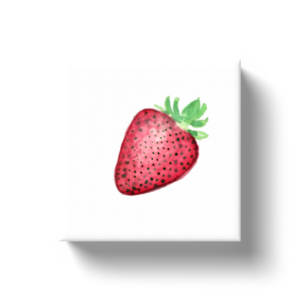Vintage Strawberry Mini Canvas