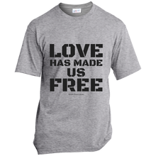 Load image into Gallery viewer, 'Love Has Made Us Free' Cotton T-Shirt