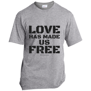 'Love Has Made Us Free' Cotton T-Shirt