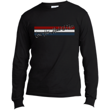 Load image into Gallery viewer, 'Love Has Made Us Free' with Stripes Long Sleeve