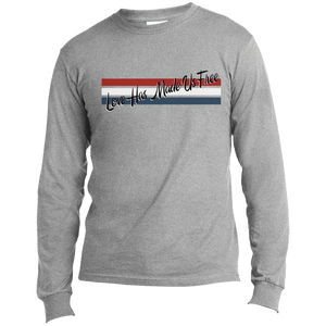 'Love Has Made Us Free' with Stripes Long Sleeve
