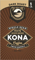 Dark Roast - 100% Kona Coffee - The Bay View Coffee Farm in Kona, Hawaii