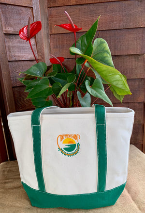 Canvas Totes - The Bay View Coffee Farm in Kona, Hawaii