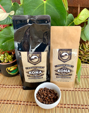 Decaffeinate, 7oz, 1lb, Whole Bean or Ground - The Bay View Coffee Farm in Kona, Hawaii