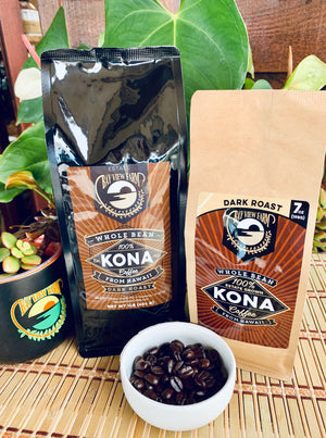 Dark Roast - 100% Kona Coffee 7oz, 1lb, Whole Bean or Ground - The Bay View Coffee Farm in Kona, Hawaii
