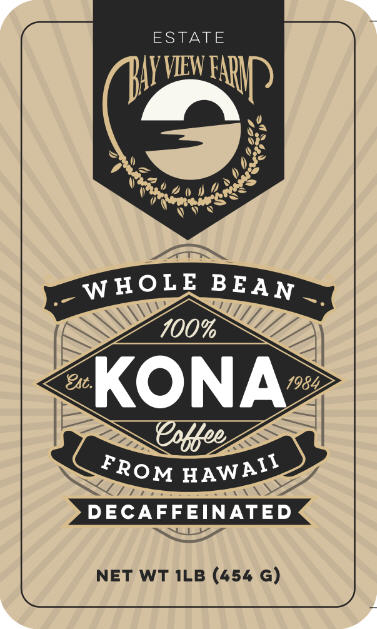 Decaf - The Bay View Coffee Farm in Kona, Hawaii