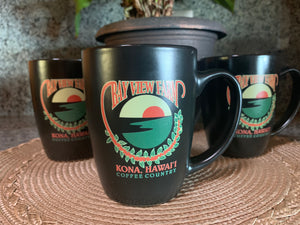 BVF Logo Mugs 2 tone 12oz - The Bay View Coffee Farm in Kona, Hawaii