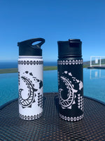 Island Stainless Steele Flask 18.6oz - The Bay View Coffee Farm in Kona, Hawaii
