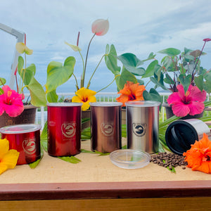 Airscape Stainless Steele Cannisters - The Bay View Coffee Farm in Kona, Hawaii