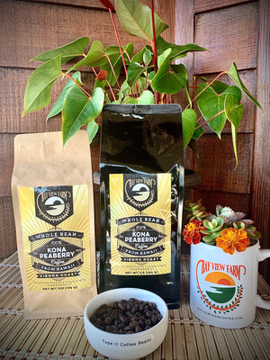 Peaberry 100% Kona Estate Coffee - The Bay View Coffee Farm in Kona, Hawaii