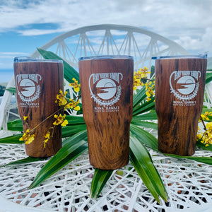 Wood theme Logo Tumblers