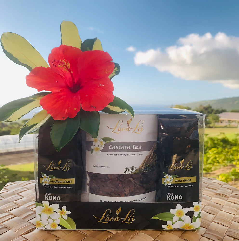 Coffee & Tea Lover Gift Pack - The Bay View Coffee Farm in Kona, Hawaii