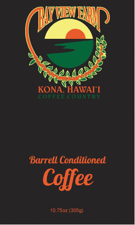 Barrel conditioned coffee - The Bay View Coffee Farm in Kona, Hawaii