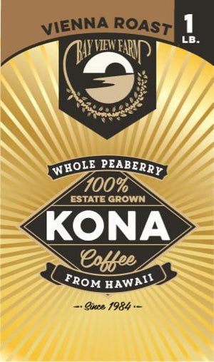 Peaberry Kona Estate Coffee - The Bay View Coffee Farm in Kona, Hawaii