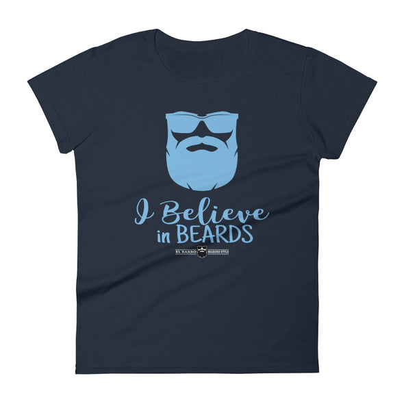 T-shirt Femme – I Believe In Beards