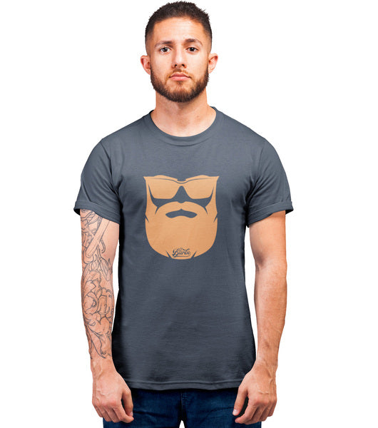 Tee Shirt-Hipster-Barbe-Denim-El Barbo