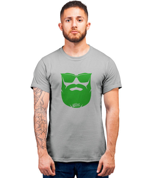 Tee Shirt-Hipster-Barbe-Gris-El Barbo