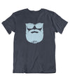 Tee Shirt-Hipster-Barbe-Navy-El Barbo