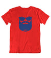 Tee Shirt-Hipster-Barbe-Rouge-El Barbo